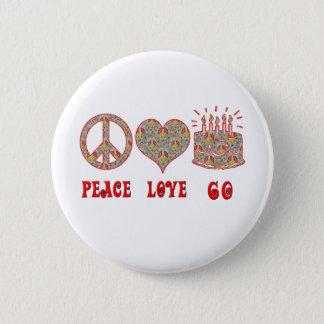 FriedensLiebe 60 Runder Button 5,7 Cm