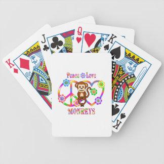 FriedensLiebe-Affen Bicycle Spielkarten