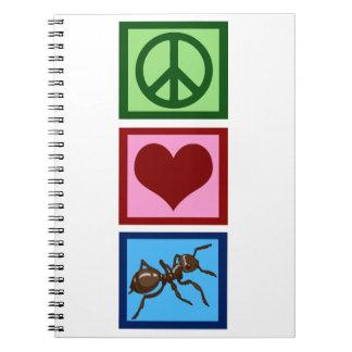 FriedensLiebe-Ameisen Spiral Notizbücher