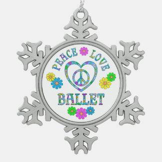 FriedensLiebe-Ballett Schneeflocken Zinn-Ornament