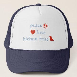 FriedensLiebe Bichon Frise Truckerkappe