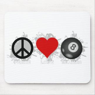 FriedensLiebe-Billard-Emblem Mauspads