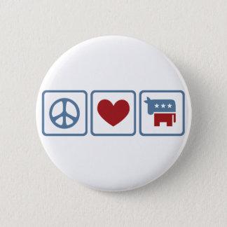 FriedensLiebe Demokraten Runder Button 5,7 Cm