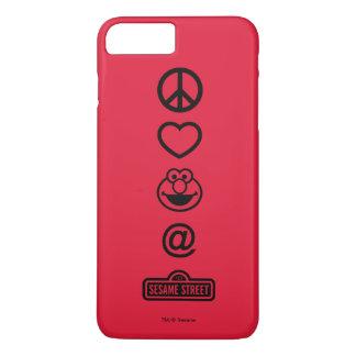FriedensLiebe Elmo iPhone 8 Plus/7 Plus Hülle