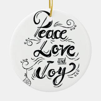 """""""FriedensLiebe-Freude-"""" Weihnachten - Keramik Ornament"""