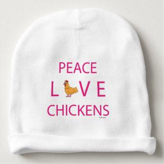FriedensLiebe-Huhn-SäuglingBeanie Babymütze