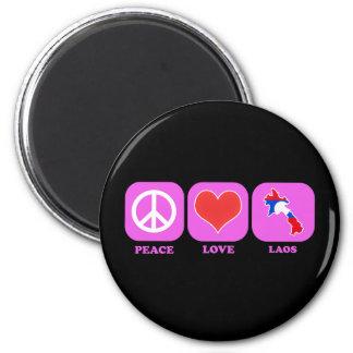 FriedensLiebe Laos Runder Magnet 5,7 Cm
