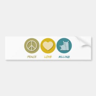 FriedensLiebe-Mahlen Autoaufkleber