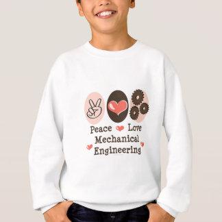 FriedensLiebe-Maschinenbauwesen scherzt Sweatshirt