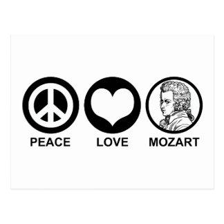 FriedensLiebe Mozart Postkarte
