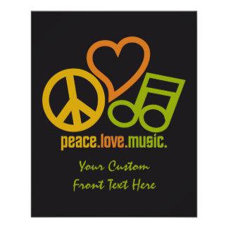 FriedensLiebe-Musikgewohnheits-Flyer 11,4 X 14,2 Cm Flyer