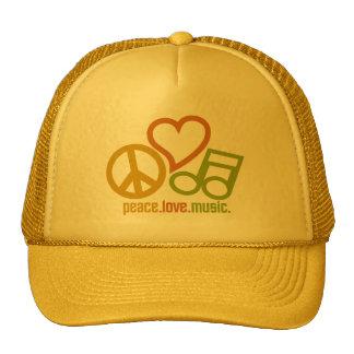 FriedensLiebe-Musikhüte - wählen Sie Farbe Mützen