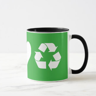 FriedensLiebe recyceln Tasse