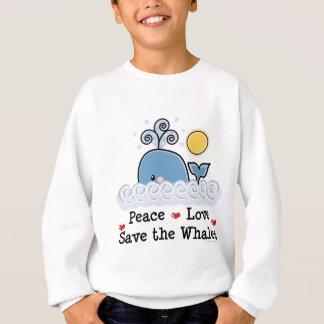 FriedensLiebe retten den Walen Kinder Sweatshirt