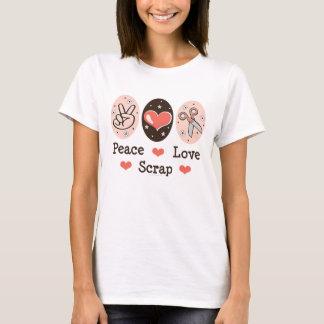 FriedensLiebe-Schrott Scrapbooking T - Shirt