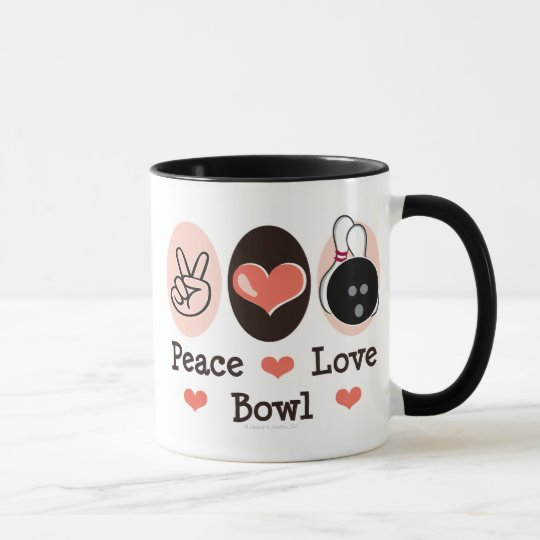 FriedensLiebe-Schüssel-Neuheits-Tasse Tasse