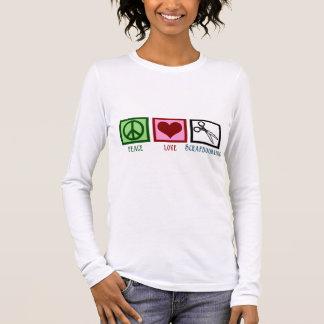 FriedensLiebe Scrapbooking Langarm T-Shirt