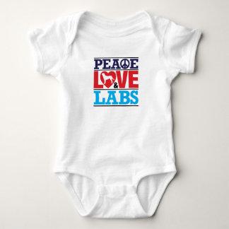 FriedensLiebe und -Labradore T-shirts