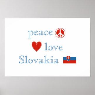 FriedensLiebe und -slowakei Poster