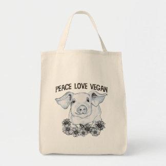 FriedensLiebe-vegane Einkaufstasche