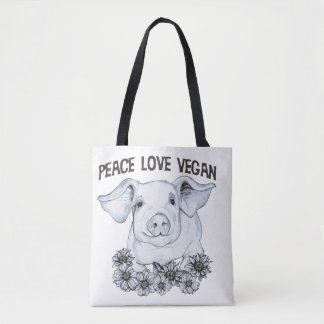 FriedensLiebe-vegane Schwein-Taschen-Tasche Tasche