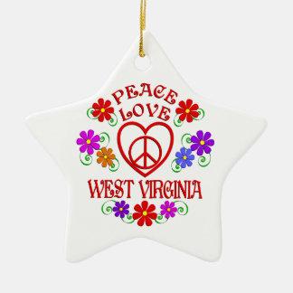 FriedensLiebe West Virginia Keramik Ornament