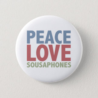 FriedensLiebeSousaphones Runder Button 5,1 Cm