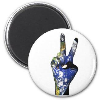 Friedensmagnet Runder Magnet 5,7 Cm