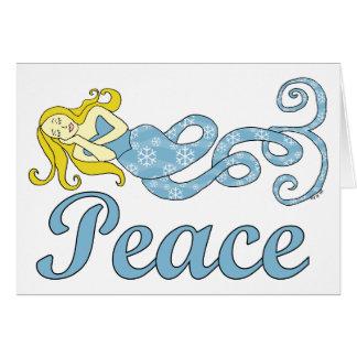 Friedensmeerjungfrau-Feiertags-Träume Karte