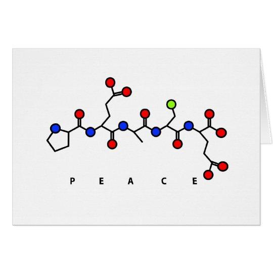 Friedenspeptidkarte Grußkarte