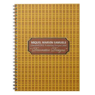 FriedensRosen-Muster-Natur-modernes Notizbuch Notizblock