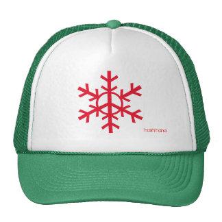 Friedensschneeflocke-Fernlastfahrerhut - Kirschrot Baseballcaps