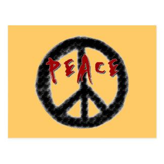 Friedensschwarze und rote T - Shirts und Geschenke Postkarte