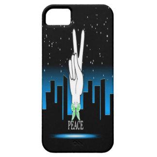 Friedenssymbol mit einem Stadt-Hintergrund iPhone 5 Cover