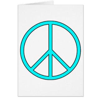 Friedenssymbol-Zeichen-Liebehippie-Antikriegs-Prot Grußkarte