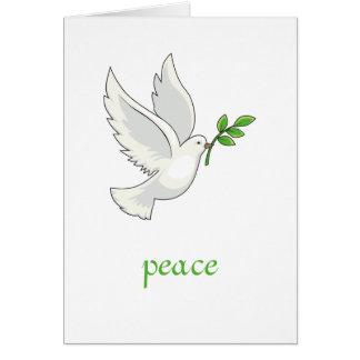 Friedenstauben-Karte Grußkarte