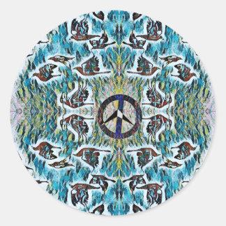 Friedensvögel Runder Aufkleber
