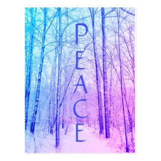Friedenswinter-Waldpostkarte Postkarte