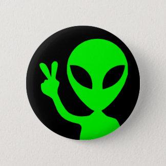 Friedenszeichen-alien Runder Button 5,1 Cm