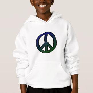 Friedenszeichen blau und grün hoodie
