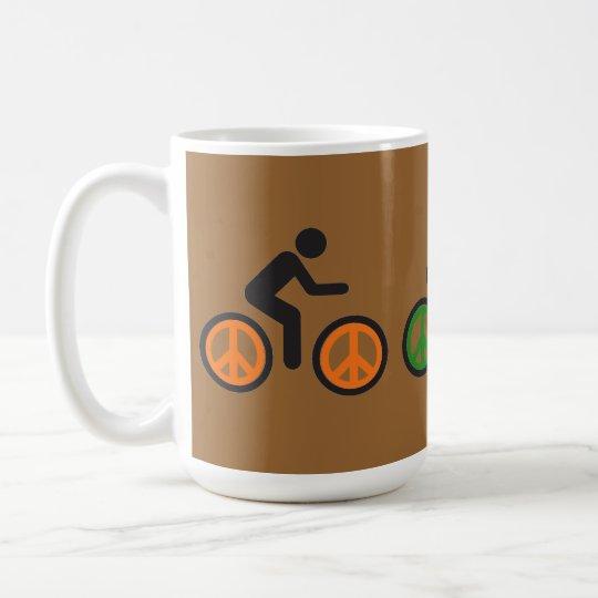 Friedenszeichen-Fahrradspeichen Tasse
