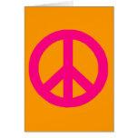 Friedenszeichen Grußkarte