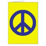 Friedenszeichen Grußkarten