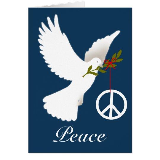 Friedenszeichen-Karte Karte