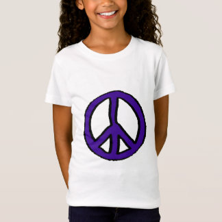 Friedenszeichen lila - T-Shirt