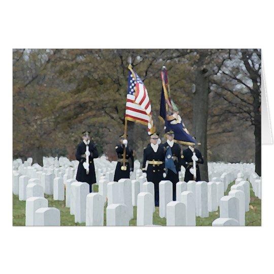 Friedhofs-Ehrenschutz Arlingtons nationaler Mitteilungskarte
