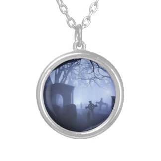 Friedhofs-Halskette Versilberte Kette