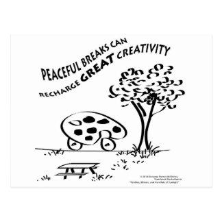 Friedliche Brüche können große Kreativität Postkarte