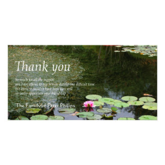 Friedlicher Garten der Wasserlilie 2 - Beileid Fotogrußkarten