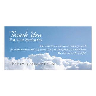 Friedlicher Himmel 1 - Beileid danken Ihnen Fotogrußkarten